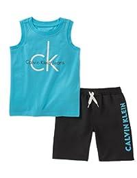 Calvin Klein 卡尔文·克莱恩 男童款无袖上衣短裤2件套