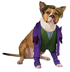 蝙蝠侠黑暗骑士小丑宠物服装 紫色 L