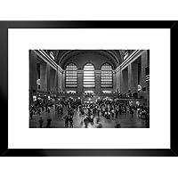 Poster Foundry Grand Central Station 纽约市纽约市纽约市 B&W 照片艺术印刷品,ProFrames 出品 哑光框架海报 26x20 inches 252144