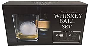 The Whiskey Ball 透明 2 spherical ice molds and 2 premium rock glasses 2789980