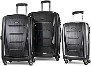 Samsonite 新秀麗 Winfield 2 可擴展硬殼行李箱,配有旋轉輪,3件套(20/24/28),Brushed Anthracite,均碼