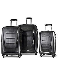 Samsonite 新秀丽 Winfield 2可扩展Hardside行李箱,配有旋转轮,3件式(20/24/28)
