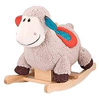 B.Toys 比樂 搖搖羊小羊盧普西羊羔絨毛絨坐騎嬰幼兒童玩具禮物18個月+BX1643Z