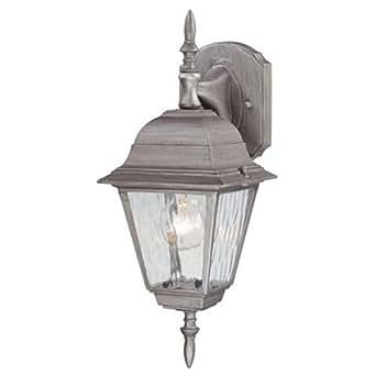 Westinghouse 户外壁灯饰特色 A19 16-3/4 英寸. 仿古银色饰面 Bx