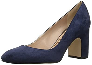 Sam Edelma 女式 Junie 高跟鞋 Baltic Navy Suede 5 M US