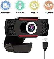全高清 VETEK 网络摄像头 1080P 30FPS,USB 迷你电脑摄像头内置麦克风网络摄像头,适用于流媒体/发布/视频,聊天/游戏/远距离学习,笔记本电脑/台式机,Mac,Skype/YouTube/Zoom/Li