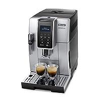 De 'longhi Dinamica ECAM 350.35 .SB 全自动咖啡机 (Digi taldi splay, Profi - aufschaeum 喷嘴, 的饮料上按钮 bruehg 群, 2 - 杯 - 功能) 银色