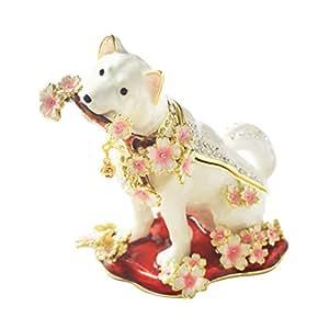 [PIEARTH] PIEARTH 首饰盒 樱犬(白色) EX581-1