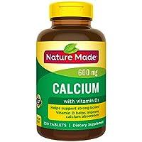 Nature Made 鈣片(碳酸鹽) 600 mg,維生素D3 400 IU,大瓶裝,220片