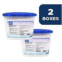 干和干燥 [4-24 件装[净重 10 盎司/包] 高级吸湿器,可控制地下下室、壁橱、浴室、洗衣房的多余水分。 No More Damp, Mold 蓝色和白色 2组