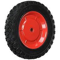 Shepherd Hardware 9599 8-Inch Semi-Pneumatic Rubber Tire, Steel Hub with Ball Bearings, Diamond Tread, 1/2-Inch Offset Axle Diameter