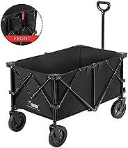 VIVOHOME 重型可折叠折叠户外实用四轮车,适用于货物和野餐,容量为 176 磅