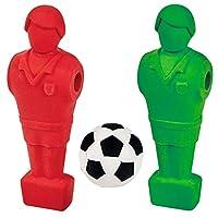 摩西 30402 橡皮擦套装 Kick IT | 足球橡皮擦用于游戏和橡皮擦 | 适合儿童
