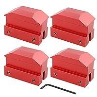 XtremeAmazing 提升垫 插孔垫 地板坯料 阳极氧化铝 红色 4 件装