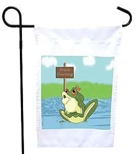 Rikki Knight 迷人青蛙之家或花园旗帜,27.94 x 27.94 cm 图片,30.48 x 45.72 cm