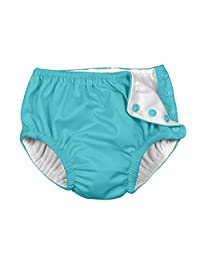i play Baby Boys' Reusable Absorbent Side Snap Swim Diaper, Royal, 18-24 Months