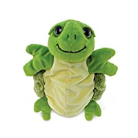 """Puzzled Sea Turtle Super Soft Plush Hand Puppet - Ocean/Sea Life Collection - 10"""" INCH - Unique loveable Gift - Item #5757"""