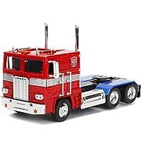 Optimus Prime 卡車,配機器人在底盤上 Transformers G1 好萊塢騎行系列壓鑄模型