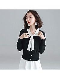 范纪思 ison de Papillon/衫蝶季 针织衫女 新款长袖蝴蝶结心机上衣 气质韩范设计感毛衣