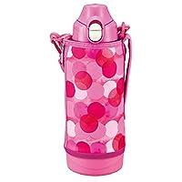 TIGER 虎牌 運動型水杯 不銹鋼水杯 800ml SAHARA系列 直飲型 帶杯子 兩用 粉紅點 MBO-H080PT