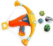 Little Tikes Mighty Blasters Mighty 弓形玩具玩具枪,带 4 个软力豆荚