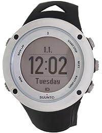 颂拓(Suunto) SS019650000男士拓野2心率监测数字灰白色表盘黑色表带 GPS腕表