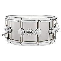 Drum Workshop DW Collector's 系列不锈钢军鼓,带镀铬硬件14x6.5 英寸 DRVL6514SPC