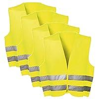 SECOTEC 五件套吊带背心;4 件背心尺寸 XL 黄色;急救套装汽车 Warnschutz Weste   10Stk EN ISO 20471