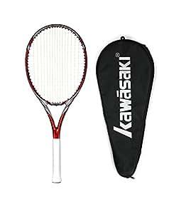 Kawasaki 川崎 中性 全碳素 单网拍 入门级网球拍 (穿线) Craze 460-r 红色(亚马逊自营商品, 由供应商配送)