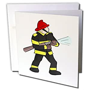 florene 儿童艺术 II–齿轮消防员带 firehose–贺卡