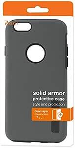 Reiko 坚固装甲双层保护壳,适用于 iPhone 6/ 6S - 零售包装 - 黑色SLCRPC01-IPHONE6GY 灰色