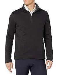 Geoffrey Beene 男式长袖弹力斜纹 1/4 拉链套头衫