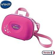 VTech 伟易达 Kidizoom 相机包  儿童便携式硬包  儿童数码相机配件 适用于3, 4, 5岁以上的儿童,粉红色