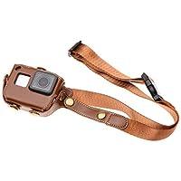 Yeetech 易科达 GoPro Hero7/6/5 Black 配件 皮套 GoPro保护套 防摔套 PU防护壳 运动相机保护套 (浅棕色)