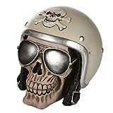 OOTB 树脂储蓄银行,骷髅摩托车头盔和太阳镜