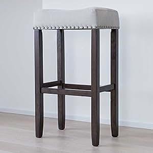 木材厨房计数器 Barstool with 露背 upholstered 靠垫座垫座椅–*吧和 ISLAND furniture