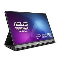 ASUS MB168B 高清便携式 USB 供电监视器带 USB 3.0MB16AC ZenScreen 15.6-Inch