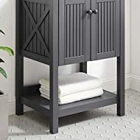 Modway 浴室梳妆台柜(不包含水槽),23 英寸(约 58.4 厘米) 灰色 23 英寸 EEI-3942-GRY