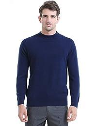 恒源祥羊绒衫 男士套头毛衣秋冬中高领针织衫打底衫男羊毛衫