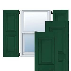 Ekena Millwork ER0109250X023250PCG 23.50 cm 宽 x 58.42 cm 高 外部松木 2 等架平板百叶窗对,铬绿色