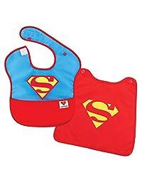 Bumkins DC 漫画超级斗篷围兜,超人,6-24 个月婴儿