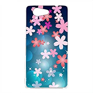 Mitas 手机壳 硬质印花 樱花 樱花 蓝色NPC-2121-BU/SO-04G 2_Xperia A4 (SO-04G) 蓝色