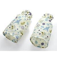 Sanko * 防污 防止水淋湿 保护袖口 口袋 花园 蓝色 16×全長26cm -