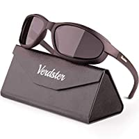 Verdster Today's Deal TourDePro 偏光太阳镜 适合男士和女士 - 适合驾驶、钓鱼、骑自行车 - 防紫外线、增强的舒适环绕框架 - 包括眼镜盒、袋子和布料