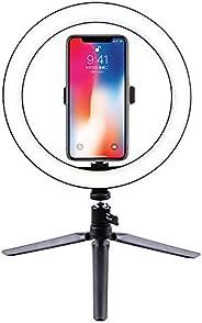 环形灯套件 10.2 英寸/26 厘米外部 12 瓦可调光 LED 环形灯带灯支架和手机夹