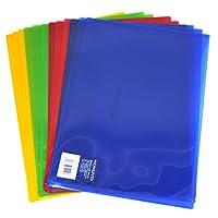KOKUYO 国誉 WCN-TCF6110 A4透明pp文件袋试卷票据档案袋 12个装(4色混装)