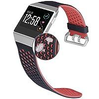 Jobese 与 Fitbit Ionic 表带兼容,透气软硅胶运动表带水晶保护套替换配件腕带男女款