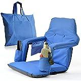 便携式体育场椅 适用于漂白剂 - 超宽豪华型号 + 免费携带/储存袋 - 防水 + 衬垫背部和扶手 + 2 个饮料架 - 智能想法 4 Life 带来*大舒适性