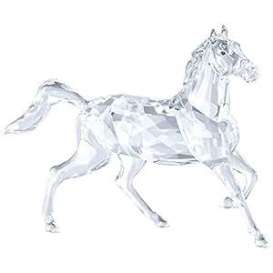 Swarovski 5135909 公马雕像,水晶,透明,13.7 x 18.6 x 6.1 厘米