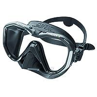 SEAC Italica 亚洲适配单镜头面罩适用于专业和休闲潜水和浮潜,意大利制造